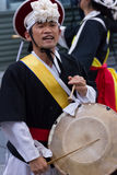 Músico coreano jogador do janggo Imagem de Stock