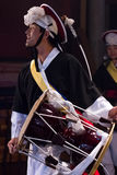Músico coreano jogador do janggo Fotografia de Stock Royalty Free
