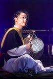 Músico coreano jogador do kkwaenggwari Foto de Stock Royalty Free