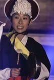 Músico coreano jogador do kkwaenggwari Imagem de Stock