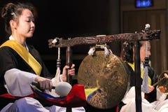 Músico coreano jogador jing Fotos de Stock