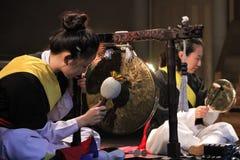 Músico coreano jogador jing Fotografia de Stock