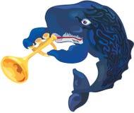 Músico da esperma-baleia do vetor Imagem de Stock Royalty Free