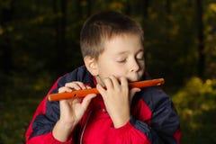 Músico da flauta foto de stock