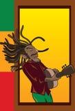 Músico da reggae ilustração royalty free