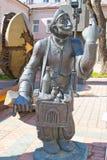 Músico da rua do monumento Imagens de Stock Royalty Free