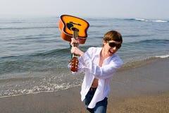 Músico de grito Foto de archivo libre de regalías