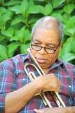 Músico de jazz Imagens de Stock Royalty Free
