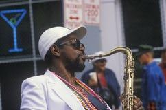 Músico de jazz Imagens de Stock