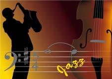 Músico de jazz ilustração do vetor