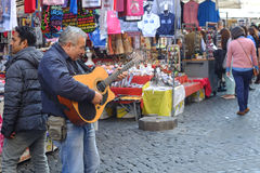 Músico de la calle Fotografía de archivo