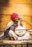 Músico de la calle Foto de archivo libre de regalías