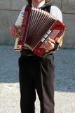 Músico de la calle - armonista Fotos de archivo libres de regalías