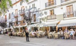 Músico de la calle en Ibiza Imagenes de archivo