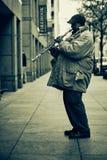 Músico de la calle en Nueva York Imagen de archivo libre de regalías