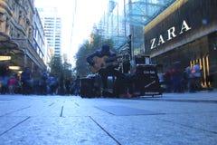 Músico de la calle en Sydney fotografía de archivo libre de regalías