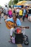 Músico de la calle en Tailandia fotografía de archivo libre de regalías