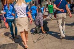 Músico de la calle Irlanda, Dublín Fotos de archivo libres de regalías