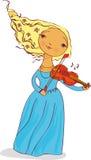 Músico de la muchacha Foto de archivo libre de regalías