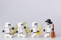 Músico de las Guerras de las Galaxias de Lego Imágenes de archivo libres de regalías
