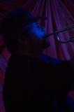 Músico de los azules   Imagenes de archivo