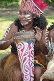 Músico de Traditonal de Papua: Menina fotografia de stock royalty free