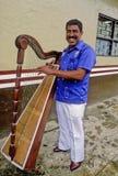 Músico de Veracruz con la arpa Imagen de archivo