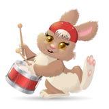 Músico del conejo de la historieta Vector Imagen de archivo libre de regalías