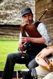 Músico del folklore foto de archivo