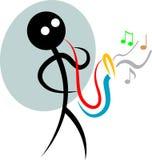 Músico divertido stock de ilustración