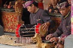 Músico do Balinese na cerimônia de Barong Imagens de Stock