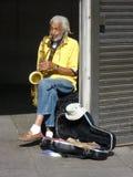 Músico do batente do metro Fotografia de Stock