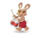 Músico do coelho dos desenhos animados Vetor Imagens de Stock