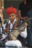 Músico do trupe de Rahmat Khan Langa imagens de stock royalty free