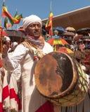Músico durante el festival de Timkat imagen de archivo libre de regalías