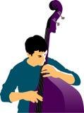 Músico e baixo abstratos ilustração royalty free