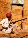 Músico em Jaisalmer fotografia de stock royalty free