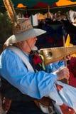 Músico en el festival del renacimiento de Arizona Imagenes de archivo