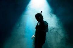 Músico en la etapa Imagen de archivo