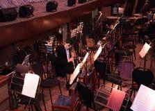 Músico en orquesta Fotografía de archivo libre de regalías