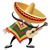Músico mexicano ilustração royalty free