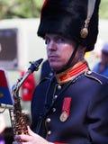 Músico In Military Band Foto de archivo libre de regalías