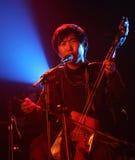 Músico mongol en la acción Foto de archivo