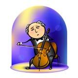 Músico no concerto Imagem de Stock