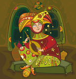 Músico popular ilustração royalty free