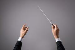 Músico que dirige o concerto fotografia de stock royalty free