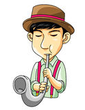 Músico Saxophone Imagen de archivo libre de regalías