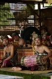 Músico Smiling del Balinese en la cámara imagen de archivo