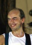 Músico sonriente imágenes de archivo libres de regalías