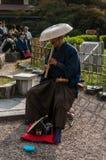Músico tradicional japonês Fotografia de Stock Royalty Free